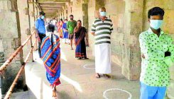 Devotees religiously follow guidelines at temples