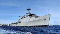 Navy ship brings back 233 stranded Indians from Iran