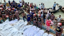At least 30 die as ferry capsises in Bangladesh