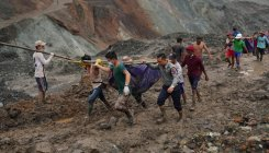 Myanmar jade mine collapse kills at least 162