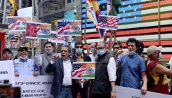 Indian Americans hold 'Boycott China' protest