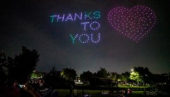300 drones light up Seoul sky with Covid-19 messages