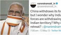 Cong uses Modi's old tweet against him on border row