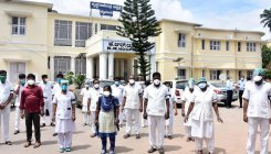 Trainee nurses protest at KR Hospital