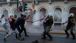 Nine people arrested after Athens demo violence