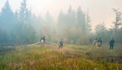 Wildfires raging in Siberia amid record warm weather