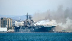 21 people injured in navy ship fire in San Diego