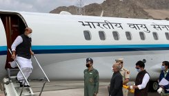 Rajnath Singh in Leh to review security