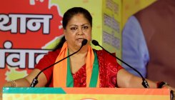 Rajasthan people paying for discord in Congress: Raje