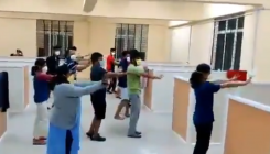 A flash mob to beat the Monday blues amid Covid-19