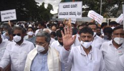 Congress protest: D K Shivakumar, Siddaramaiah detained