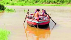 River Krishna, tributaries raise flood threat in NK