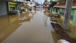 Residential layouts flooded in Kushalnagar