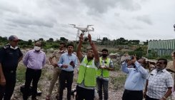 Drone used to deliver medicine in Karnataka