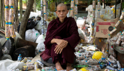Monk from Myanmar leads push to cut plastic waste