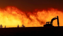 Oregon fire raging where they don't usually burn