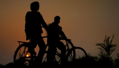 Trafficking survivors on cycle keep kids safe in Bihar