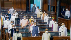 Lok Sabha members don masks, sit in different locations