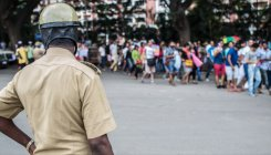 Policeman on the run after suspension