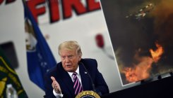 Trump rejects climate change cause of wildfires in US